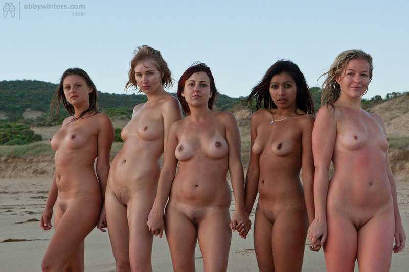 Abby Winters Sunset Girls nude on the beach