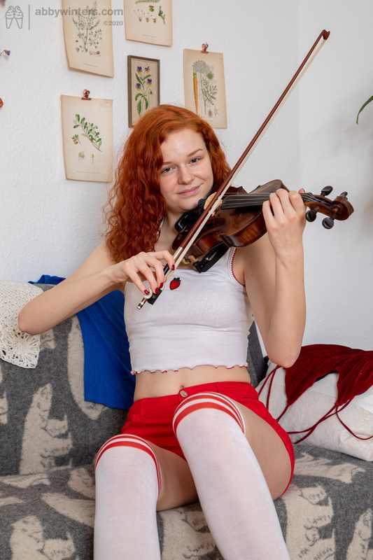 Abby Winters redhead Anabelle newbie model