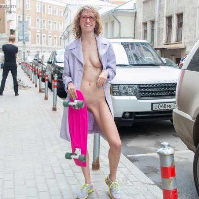 Tanya nude in public