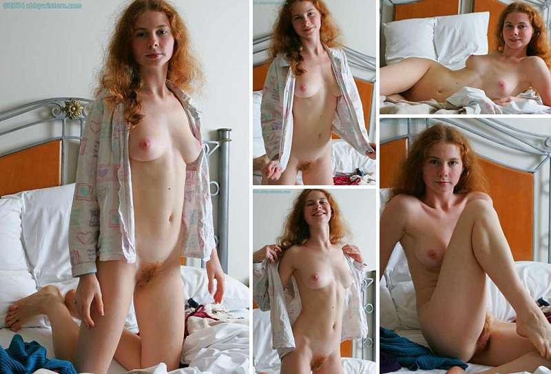 Australian redhead with hairy pussy
