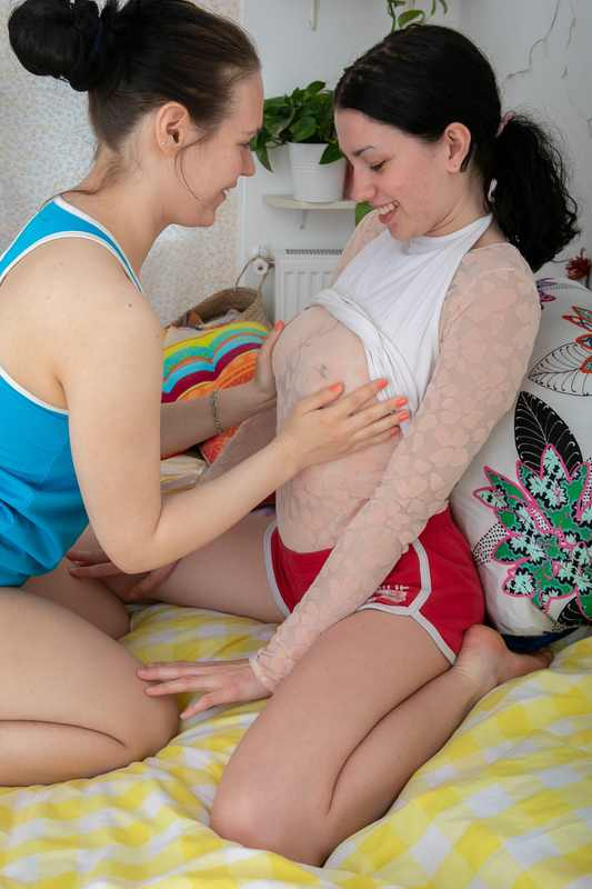 Mary and Anca pussy licking and finger banging