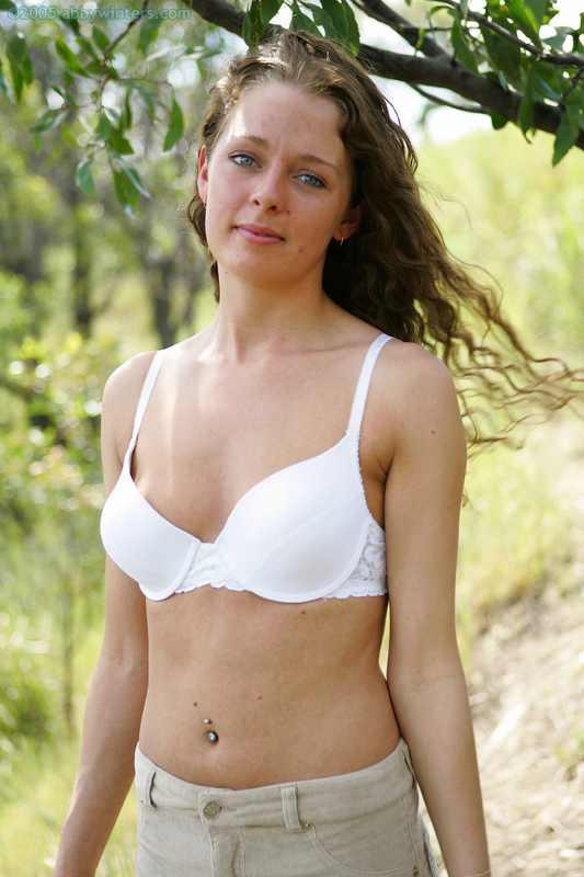 Australian Poppy naked outdoors