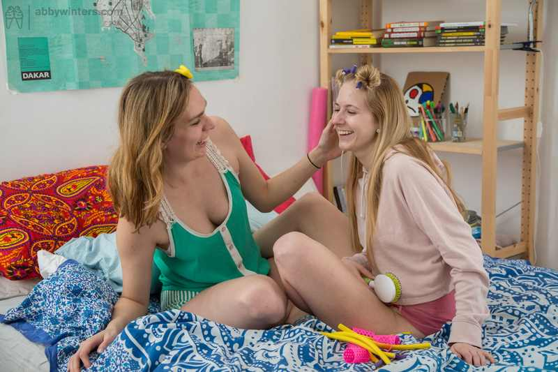 Kayla first time lesbian sex is with Layla