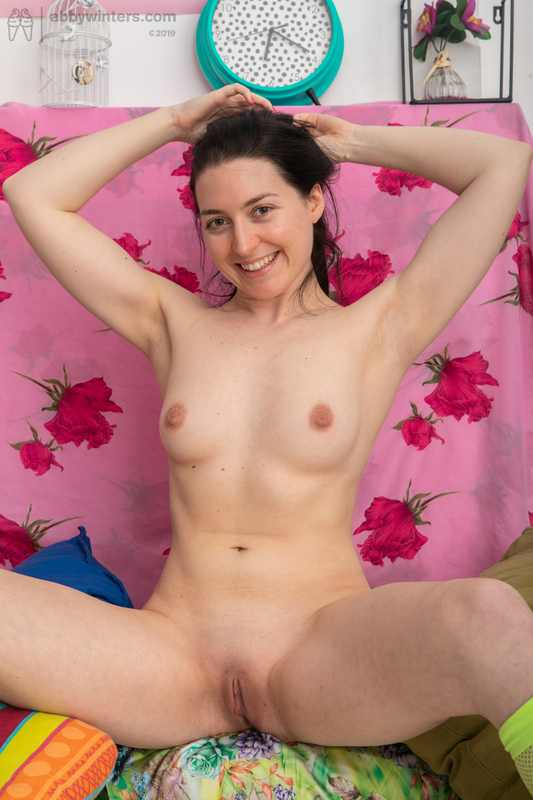 Marine naked and painting her nipples