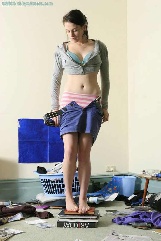 Sophie-Joy posing naked at home