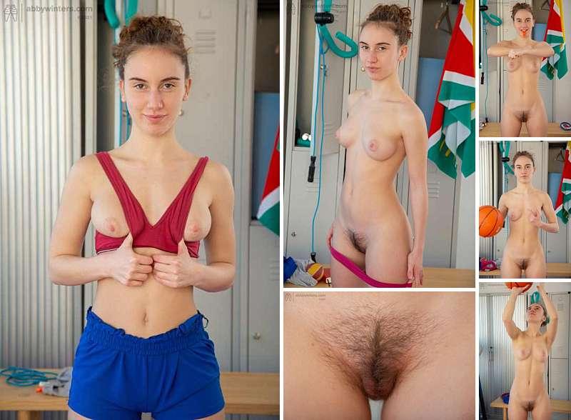 Italian amateur Giorgia naked workout