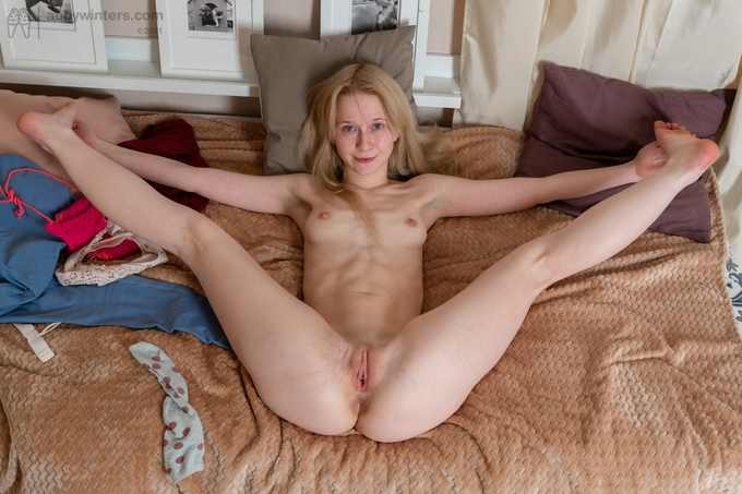 Senja pleasuring herself with her sex toys